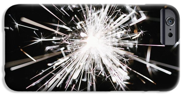 Fireworks iPhone Cases - Sparkler iPhone Case by Kevin Curtis