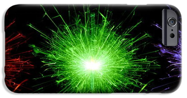 Fireworks iPhone Cases - Sparklers iPhone Case by Victor De Schwanberg