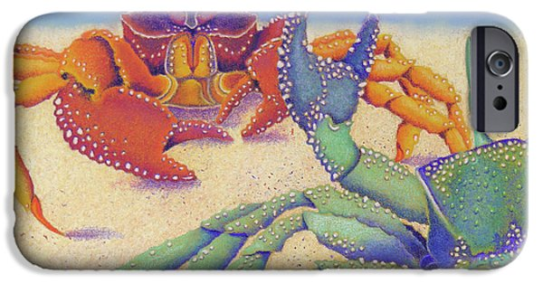 Ocean Pastels iPhone Cases - Sparring for Supper iPhone Case by Tracy L Teeter