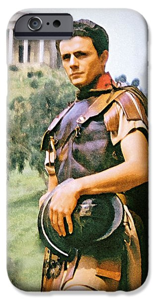 Staley Mixed Media iPhone Cases - Spartacus iPhone Case by Chuck Staley