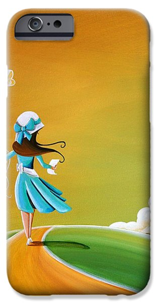 Figures Paintings iPhone Cases - Special Delivery iPhone Case by Cindy Thornton