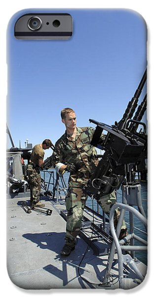 Copy Machine iPhone Cases - Special Warfare Combatant Craft Crewmen iPhone Case by Stocktrek Images