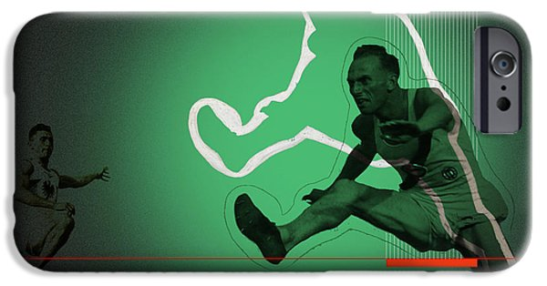 Athlete Digital Art iPhone Cases - Speed Monsters iPhone Case by Naxart Studio