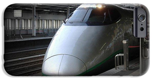 Train iPhone Cases - Speed Train iPhone Case by Naxart Studio