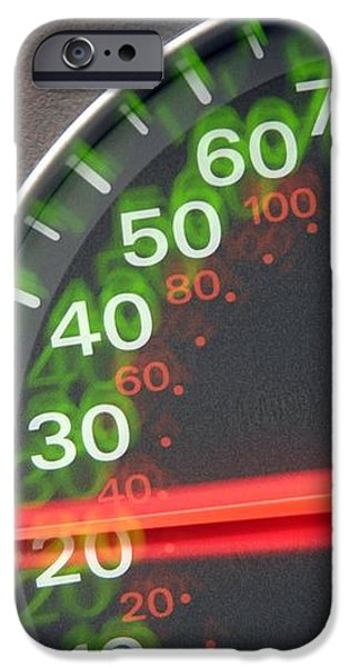 Speedometer iPhone Case by Johnny Greig