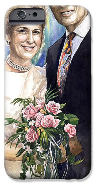 Commissions iPhone Cases - Spenser and Danise iPhone Case by Yuriy  Shevchuk