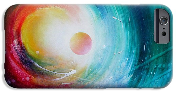 Inner World Paintings iPhone Cases - Sphere F31 iPhone Case by Drazen Pavlovic