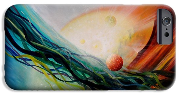 Macrocosm iPhone Cases - Sphere Gl2 iPhone Case by Drazen Pavlovic