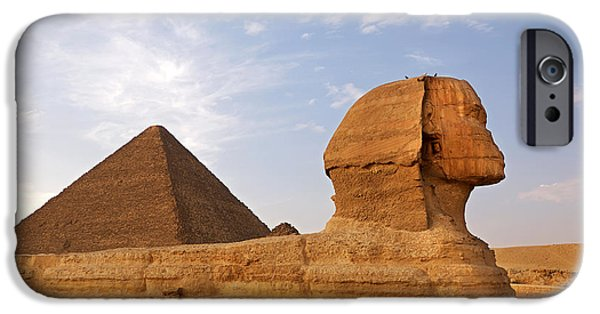 Great Mysteries iPhone Cases - Sphinx of Giza iPhone Case by Jane Rix