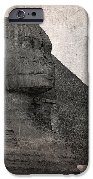 Sphinx vintage photo iPhone Case by Jane Rix