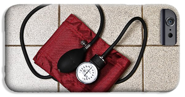 Medical Equipment iPhone Cases - Sphygmomanometer And Stethoscope iPhone Case by Photo Researchers, Inc.
