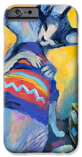 Contemporary Art Drawings iPhone Cases - Sphynx Cats Friends iPhone Case by Svetlana Novikova