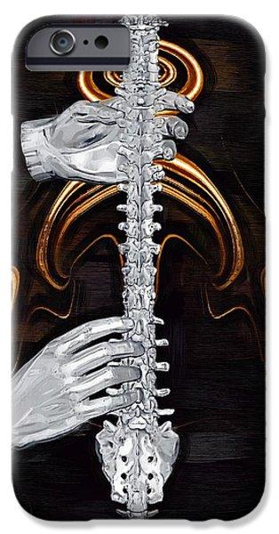 Spine - Instrument of Life iPhone Case by Joseph Ventura