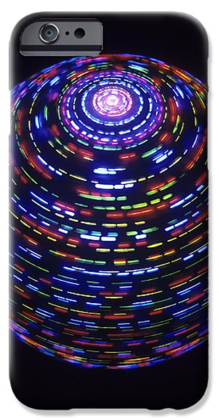 Fast Ball iPhone Cases - Spinning Globe iPhone Case by Lawrence Lawry