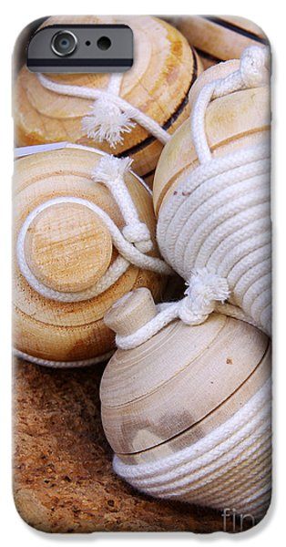 Rotate iPhone Cases - Spinning Tops iPhone Case by Carlos Caetano