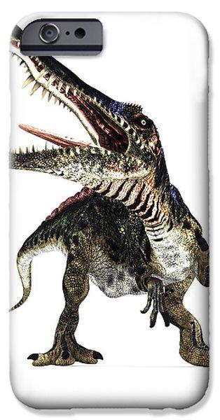 Spinosaurus Dinosaur, Artwork iPhone Case by Animate4.comscience Photo Libary
