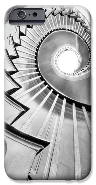 Hdr iPhone Cases - Spiral Staircase Lowndes Grove  iPhone Case by Dustin K Ryan