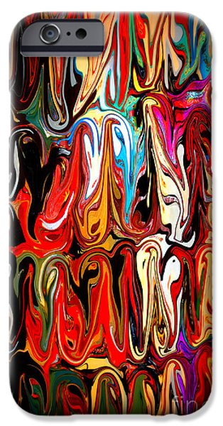 Abstract Digital Mixed Media iPhone Cases - Spirit of Mardi Gras iPhone Case by Carol Groenen