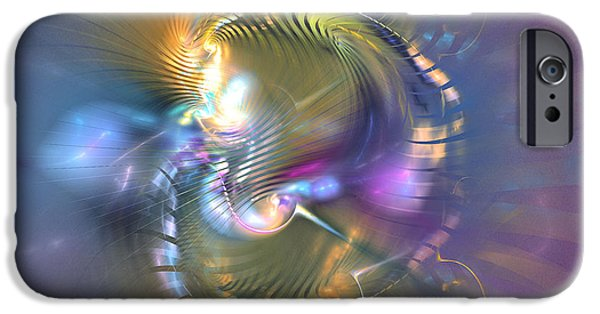 Colorful Abstract Algorithmic Contemporary iPhone Cases - Spirit of nobility - Abstract digital art iPhone Case by Sipo Liimatainen