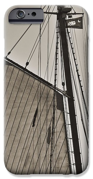 Spirit of South Carolina Schooner Sailboat Sail iPhone Case by Dustin K Ryan