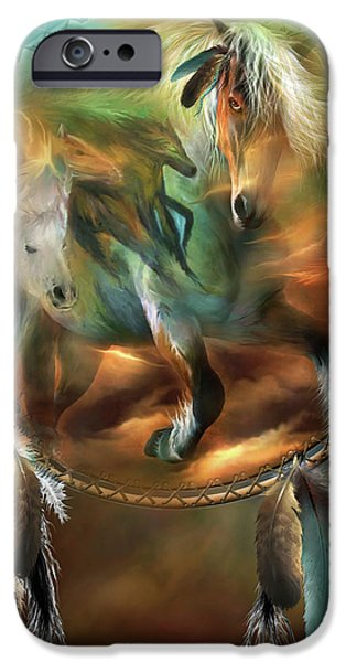 Spirits Of Freedom iPhone Case by Carol Cavalaris