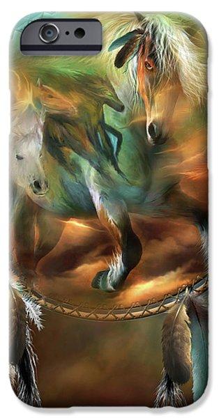 Art Of Horses iPhone Cases - Spirits Of Freedom iPhone Case by Carol Cavalaris