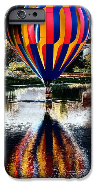 Slash iPhone Cases - Splash and Dash with a Hot Air Balloon iPhone Case by David Patterson