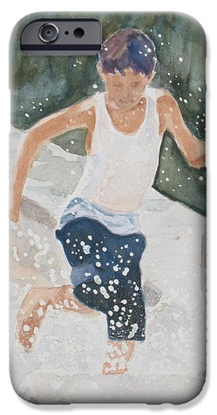 Water Play iPhone Cases - Splash Dance iPhone Case by Jenny Armitage