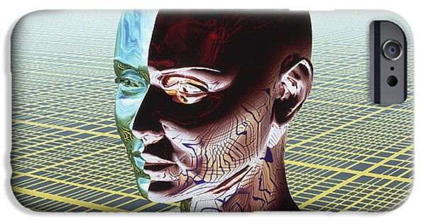 Multiple Personalities iPhone Cases - Split Personality iPhone Case by Laguna Design