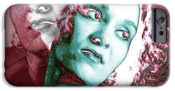 Multiple Personalities iPhone Cases - Split Personality iPhone Case by Victor Habbick Visions