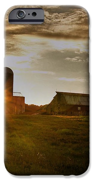 Split Silo Sunset iPhone Case by Benanne Stiens