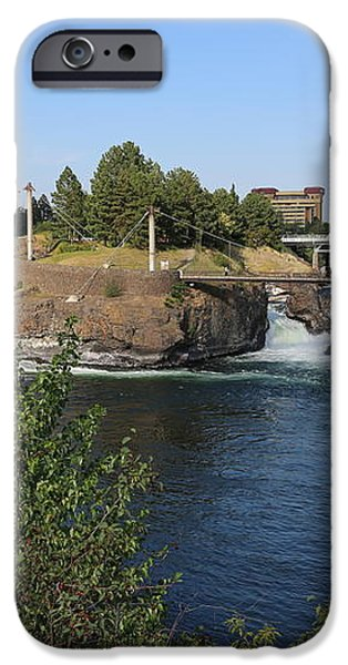 Spokane Falls HDR iPhone Case by Carol Groenen