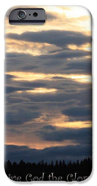 Spokane Sunset - Give God the Glory iPhone Case by Carol Groenen