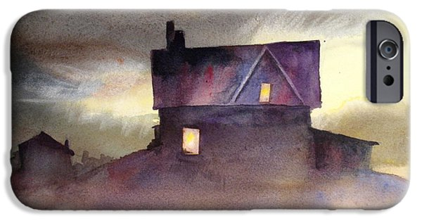 Haunted House Paintings iPhone Cases - Spooktacular iPhone Case by Mohamed Hirji