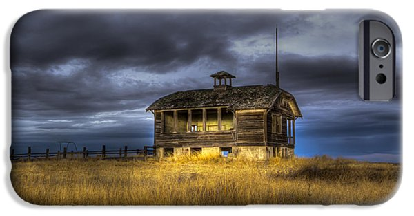 Abandoned School House. iPhone Cases - Spot on the School House iPhone Case by Jean Noren