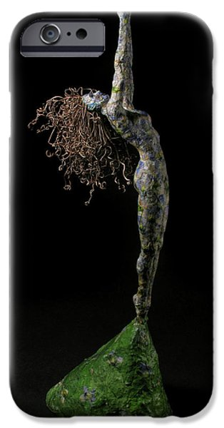 Person Mixed Media iPhone Cases - Spring a sculpture by Adam Long iPhone Case by Adam Long
