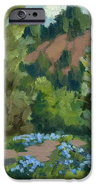 Spring iPhone Cases - Spring and Canterbury Bells iPhone Case by Diane McClary