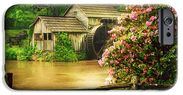 Grist Mill iPhone Cases - Spring at the Mill iPhone Case by Darren Fisher
