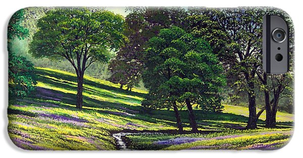 Oak Creek Paintings iPhone Cases - Spring Bloom Table Mountain iPhone Case by Frank Wilson