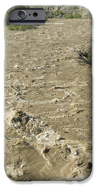 Spring Flood, Nicola River, Canada iPhone Case by Kaj R. Svensson