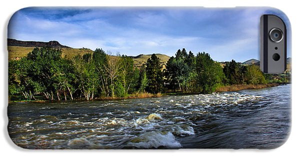 River Flooding iPhone Cases - Spring Flow iPhone Case by Robert Bales