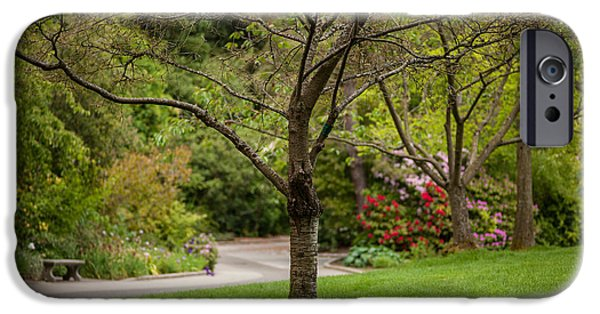 Spring iPhone Cases - Spring Garden Landscape iPhone Case by Mike Reid