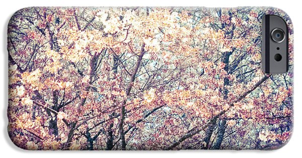 Blooming Pyrography iPhone Cases - Spring impressions I  iPhone Case by Mira Dimitrijevic