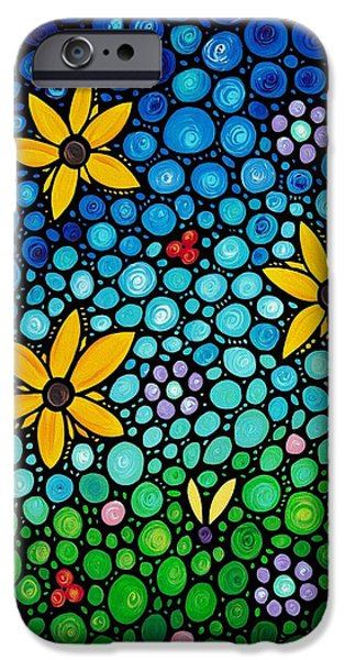 Abstract Flowers iPhone Cases - Spring Maidens iPhone Case by Sharon Cummings