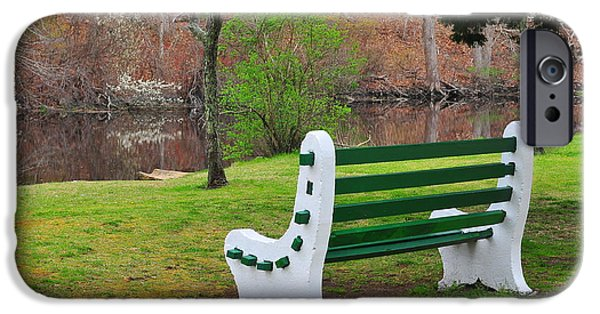 Catherine Reusch Daley iPhone Cases - Spring on the Ponaganset River  iPhone Case by Catherine Reusch  Daley
