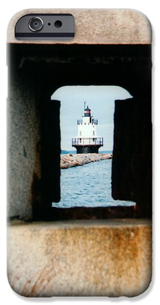 New England Lighthouse iPhone Cases - Spring Point Ledge iPhone Case by Greg Fortier