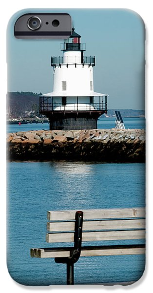 Best Sellers -  - Ledge iPhone Cases - Spring Point Ledge Lighthouse iPhone Case by Greg Fortier