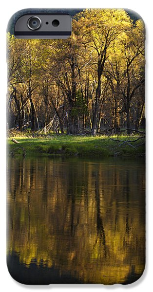 Tree Reflection iPhone Cases - Spring Reflections iPhone Case by Rick Berk