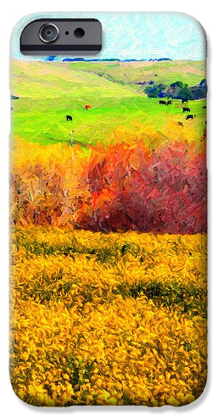 Springtime In The Golden Hills . 7D12402 iPhone Case by Wingsdomain Art and Photography