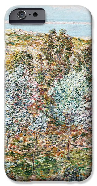 Childe iPhone Cases - Springtime Vision iPhone Case by Childe Hassam